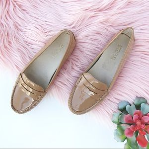 Tan Patent Michael Kors Daisy Penny Loafers 6